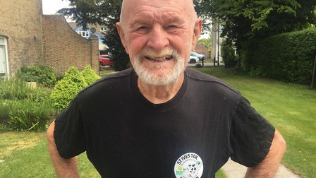 Pat Brown is the marathon man of March who at 80 years of age has run his last London Marathon after