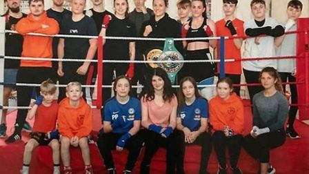 It's a knockout! March company dedicate time to boxing academy. Picture: KEVIN WRIGHT.