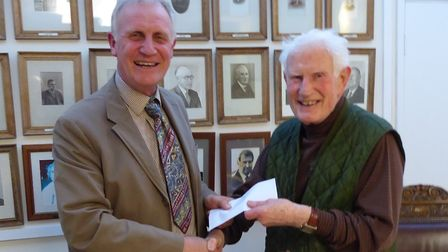Brian Hawden (pictured) was presented a 'token of appreciation' for working 50 years as clerk on beh