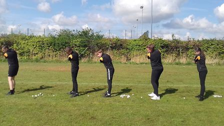 Young golfers taught top tips at school from March Golf Club. Picture: MARCH GOLF CLUB.
