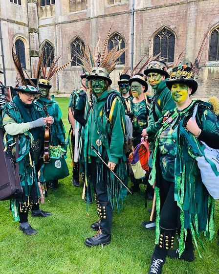 Eel Day always attracts an ecletic gathering and this year's was no exception. It was a great parade