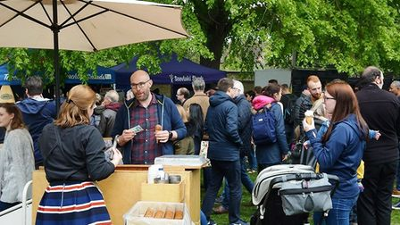 Ely Food and Drink Festival, part of Ely Eel Festival 2019, attracted large crowds over two days. Th