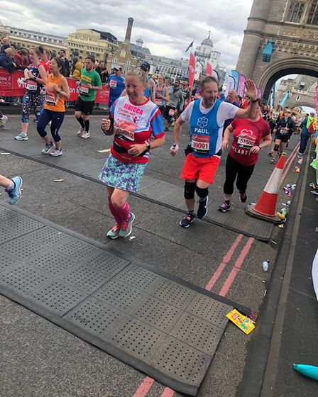 Paul Warren from Dunmow who ran the London Marathon for St Clare Hospice