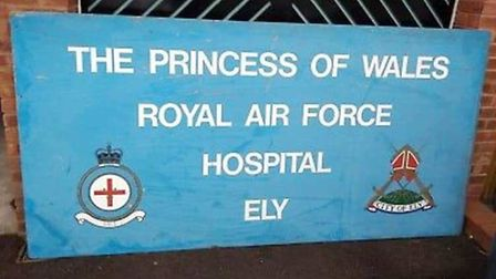 An historic sign that once stood at the gates of the RAF Hospital Ely is being returned to the city