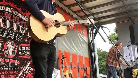 Performing in Ely, Bertie Buck, 29, who died last month. His body was recovered from the river at El