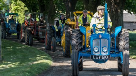 The sixth Stebbing vintage and classic tractor road run. Picture: SAFFRON PHOTO