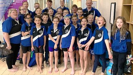 Swimmers from March Marlins set 25 personal best times during the Junior Fenland League and East Reg