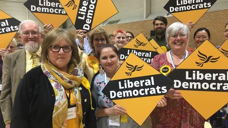 Conservatives cling on in East Cambridgeshire after Liberal Democrat surge. Picture: CLARE BUTLER.