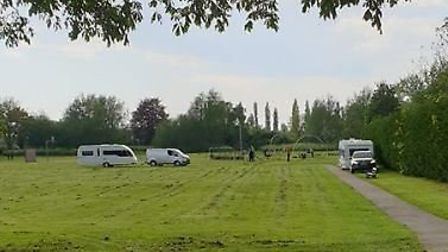 The Avenue park in March where a family of seven sisters have set up their caravans earlier this wee