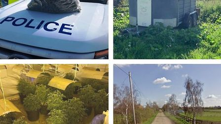 An alert police officer who smelt the air went on to find £45k worth of drugs, and two stolen vans,