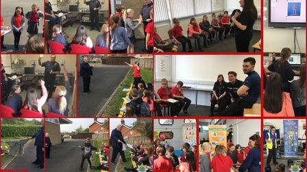 Firefighters from March Fire Station delivered their 'Safety Zone' event to more than 450 pupils at
