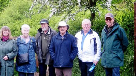 Members of The March Society enjoying an evening walk through Gault Wood nature reserve. Picture: JE