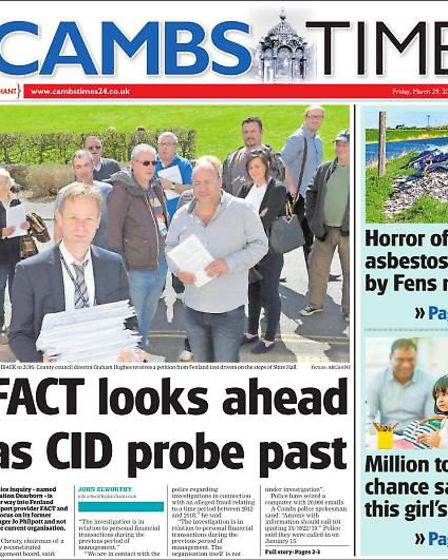 Some of the reporting by the Cambs Times of the issues at Fenland Association for Community Transpor