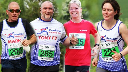 The small group of Fenland Running Club members who took on the Hayes and Storr Sublime Swaffham 10k