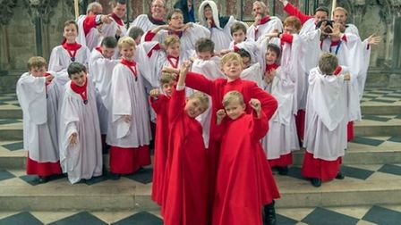 Can you help sponsor these choir boys in a charity bike ride? Picture: ELY CATHEDRAL.