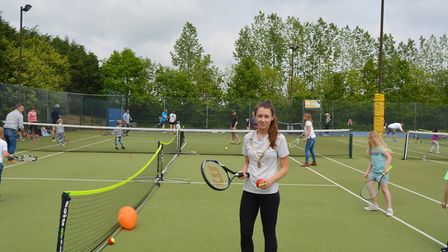 Skills on show for annual Ely Tennis Club open day. Picture: MIKE ROUSE.