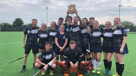 King's Lynn Hockey Club won the cup for the second year running. They are pictured with the winning