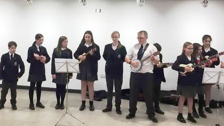 Littleport Academy students offer lunchtime concert for seniors club at leisure centre. Picture; LIT