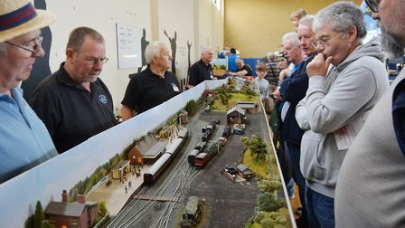 Visitors look on in awe at Ely and District Model Railway Club's annual exhibition. Picture: MIKE RO
