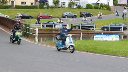Many scooter enthusiasts took part in a ride through Essex villages on bank holiday Monday. Picture: