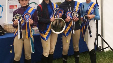 A talented team of youngsters from Cambridgeshire took part in the British Riding Club Fibre Beet Ju