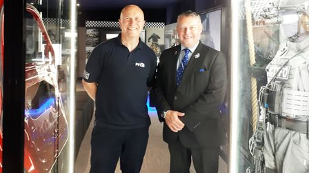 Police and Crime Commissioner Jason Ablewhite during his visit to the Armed Policing Museum in Chatt