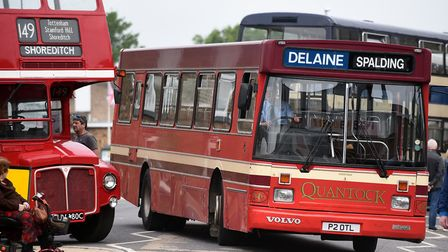 It was all aboard in Whittlesey has the biggest ever Fenland Busfest drove into town. Picture: IAN C