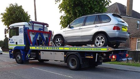 This silver BMW car was seized in March on Wednesday (May 22) after it was spotted displaying false