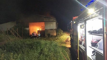 A farm building in Chatteris with machinery and 100 tonnes of straw inside was set alight in an arso