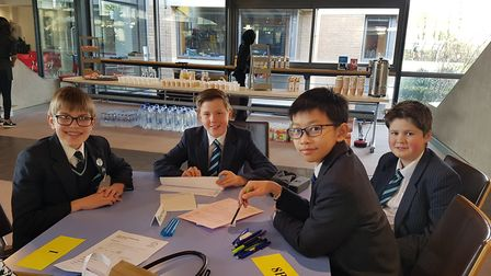 Maths students from King's Ely have reached the national finals of a fiercely-contested competition.