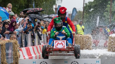 Action from the Great Dunmow Soapbox Race. Picture: SAFFRON PHOTO