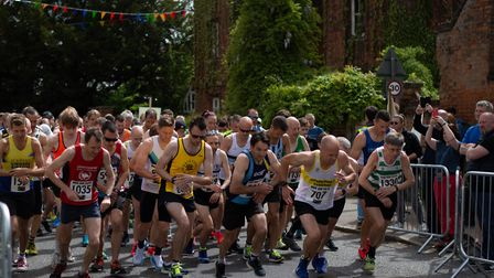 Runners starting the Hatfield Broad Oak 10K. Picture: CONTRIBUTED