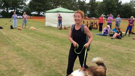 Jo and Keefer at Coldham Dog Show.