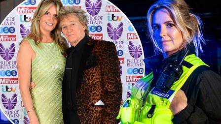 Penny Lancaster (pictured) who is married to singer Rod Stewart (inset) has praised the work of Ca