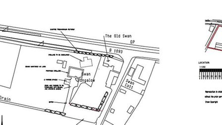 Site plan put before Fenland District Council by family from Doddington who hope to create a small g