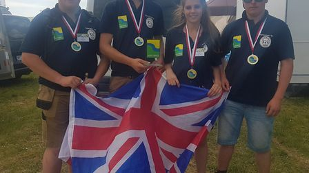 Team UK after their triumph at the Agrolympics. Picture: JOHN NICE