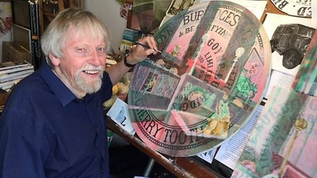 Local artist Ted Coney will be artist in residence on June 15 and 16 at Ely Courthouse working in a