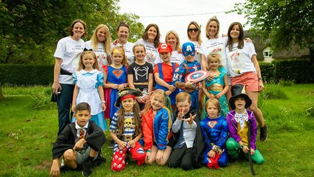 Dunmow St Mary's Primary School students took part in a fancy dress walk for charity. Picture: CONTR