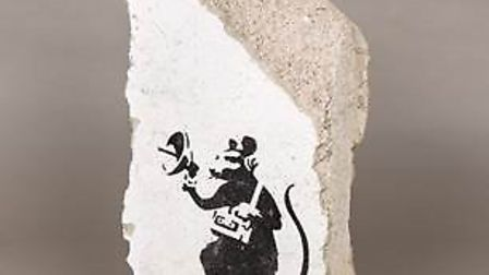 Ely auction house Rowley's sells iconic work by world famous street artist Banksy. Picture: ROWLEY'S