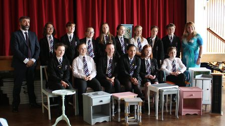 Pupils from Witchford Village College took part in a recycling project to better understand the issu