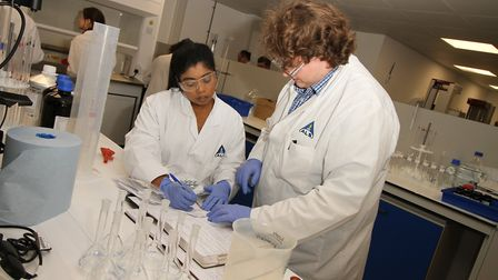 Behind the scenes at Ely's biggest laboratory, ALS Pharmaceuticals. Picture: HARRY RUTTER.