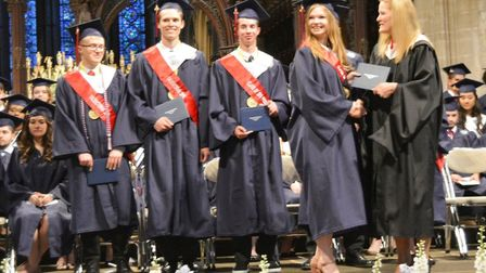 Show-stopping graduation for talented Viva member Dresden Goodwin at Ely Cathedral. Picture: MIKE RO