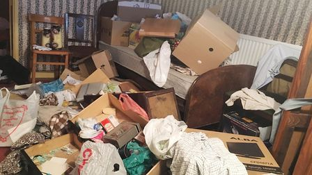 A £1000 reward is being offered to catch the heartless thieves who trashed the house of a 77-year-ol