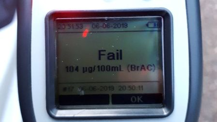 This driver was three-and-a-half times the legal alcohol limit and was stopped in Ely. Picture: TWIT