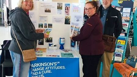 Sainsburys in Ely supports raising the awareness of Parkinson's disease: Caroline Nicklinson and Dav