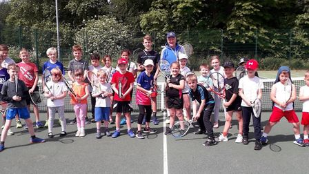 Young tennis stars of the future showed off their skills at the first of six Sunday morning junior c