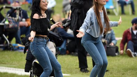 Wet weather didn't phase the crowds who were at this year's March Summer Festival .Picture: IAN CART