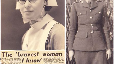 Soham''s Sister Mollie Evershed who saved 75 servicemen as ship sunk during D-Day invasion. Picture: