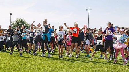 Athletes warm up ahead of the Sutton Beast. Picture: IAN STACEY PHOTOGRAPHER