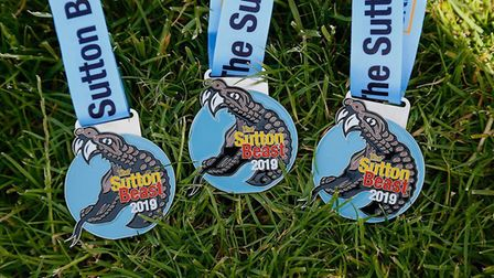 Medals from the Sutton Beast race. Picture: IAN STACEY PHOTOGRAPHER